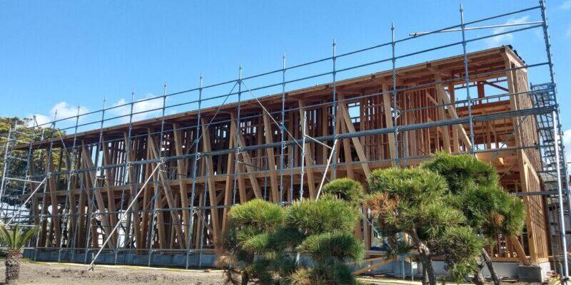 Hotel Kaikozu is under construction